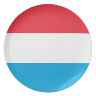 Luxembourg Flag Plate