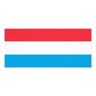 Luxembourg Flag Rack Card
