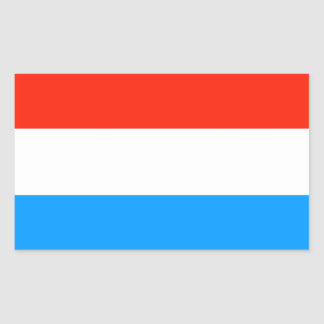 Luxembourg flag rectangular sticker