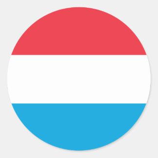 Luxembourg Flag Round Sticker