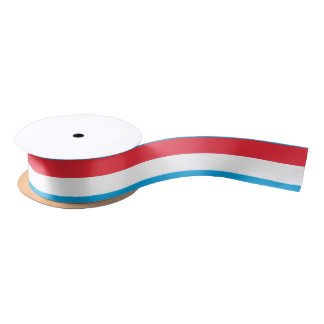 Luxembourg Flag Satin Ribbon