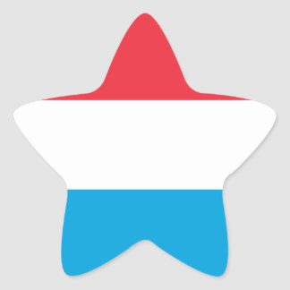 Luxembourg Flag Star Sticker
