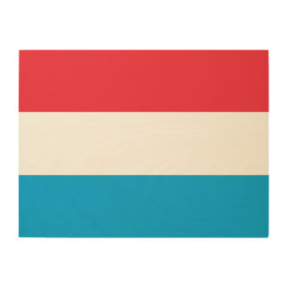 Luxembourg Flag Wood Wall Decor