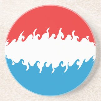 Luxembourg Gnarly Flag Beverage Coasters
