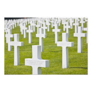 Luxembourg, Hamm. US Military Cemetery Photo Art