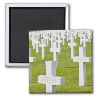 Luxembourg, Hamm. US Military Cemetery Square Magnet
