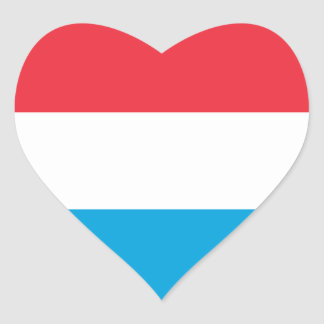 Luxembourg - Lëtzebuerg - Luxemburg Heart Sticker