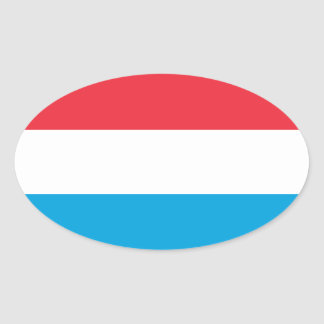 Luxembourg - Lëtzebuerg - Luxemburg Oval Sticker