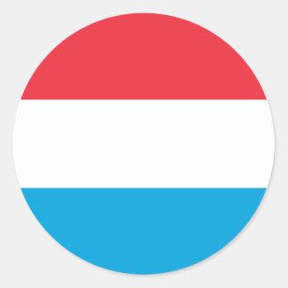 Luxembourg - Lëtzebuerg - Luxemburg Round Sticker