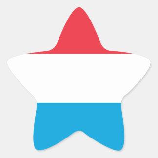 Luxembourg - Lëtzebuerg - Luxemburg Star Sticker