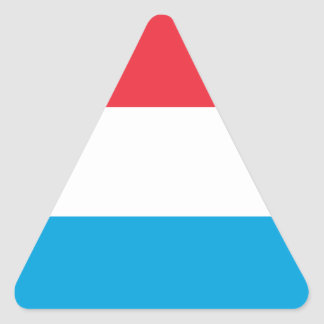 Luxembourg - Lëtzebuerg - Luxemburg Triangle Sticker