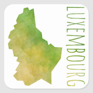 Luxembourg Map Square Sticker