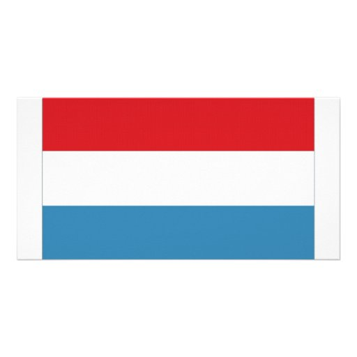 Luxembourg National Flag Customized Photo Card