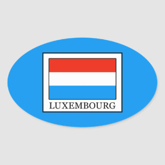 Luxembourg Oval Sticker