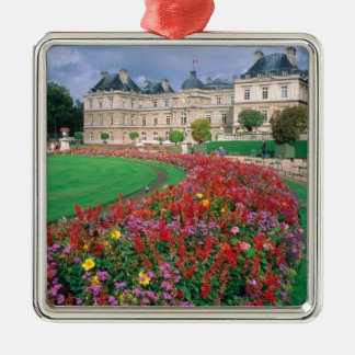 Luxembourg Palace in Paris, France. Silver-Colored Square Decoration