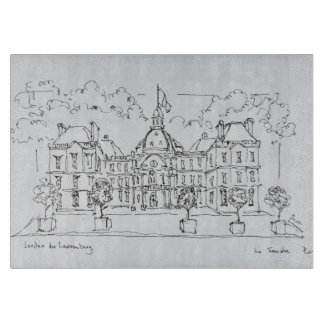 Luxembourg Palace | rue de Vaugirard, Paris Cutting Board