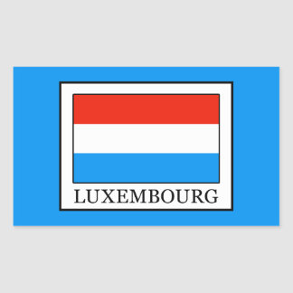 Luxembourg Rectangular Sticker
