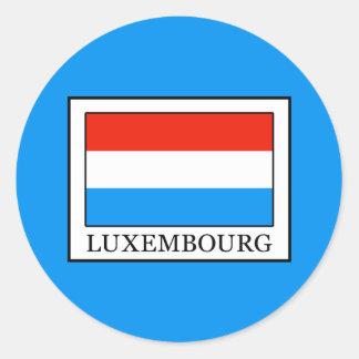 Luxembourg Round Sticker