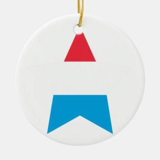 Luxembourg Star Ceramic Ornament