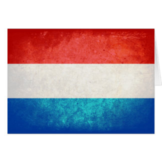 Luxembourger Flag Note Card