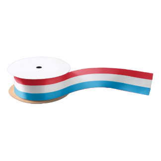 Luxembourger flag ribbon satin ribbon