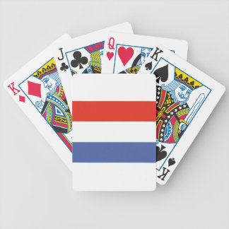 Luxemburg flag bicycle playing cards
