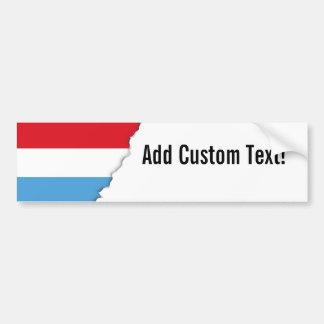 Luxemburg Flag Bumper Sticker
