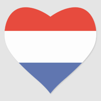 Luxemburg flag heart sticker