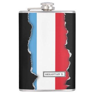 Luxemburg Flag Hip Flask