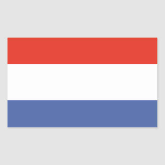 Luxemburg flag rectangular sticker