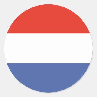 Luxemburg flag round sticker