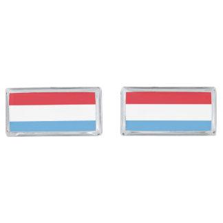Luxemburg Flag Silver Finish Cuff Links