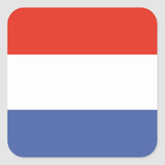 Luxemburg flag square sticker