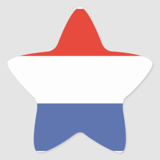Luxemburg flag star sticker