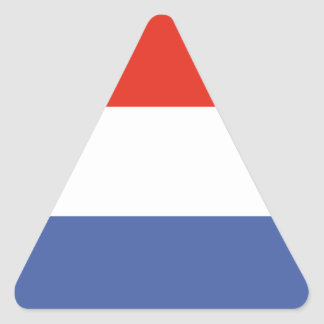 Luxemburg flag triangle sticker