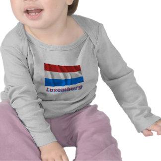 Luxemburg Fliegende Flagge mit Namen Tshirt