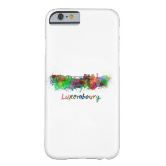 Luxemburg skyline in watercolor barely there iPhone 6 case