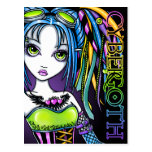 Luxie Rainbow Cyber Goth Fairy Postcard