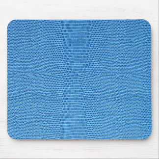 Luxurious blue more leather mouse pad