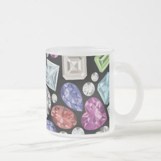 Luxurious colorful Diamond Pattern Frosted Glass Coffee Mug