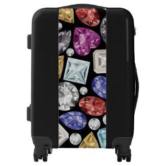 Luxurious colorful Diamond Pattern Luggage