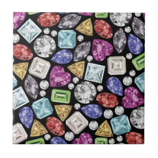 Luxurious colorful Diamond Pattern Small Square Tile
