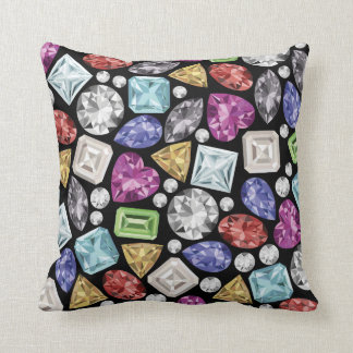 Luxurious colorful Diamond Pattern Throw Cushions
