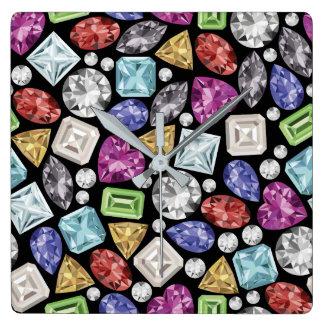 Luxurious colorful Diamond Pattern Wallclock