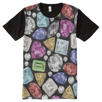 Luxurious colourful Diamond Pattern All-Over Print T-Shirt