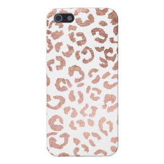 Luxurious hand drawn rose gold leopard print iPhone 5 case