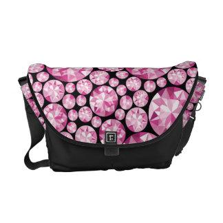 Luxurious pink Diamond Pattern Commuter Bag