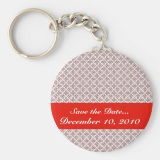luxurious pink pattern on rough white background key chain