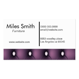 Luxurious Purple Furniture Business Card Template