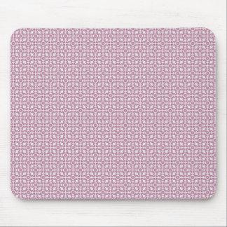 luxurious purple pattern on rough white background mousepad